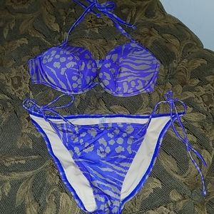 VS bikini top and bottom purple/gray